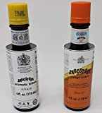 Angostura Aromatic Bitters and Orange Bitters 4 Fl. oz. Set.