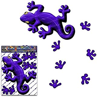 紫ヤモリおかしい動物スモールパックビニール窓バンパーデカールステッカー車トラックキャラバンラップトップ自転車-ST00031PL_SML-JASステッカー