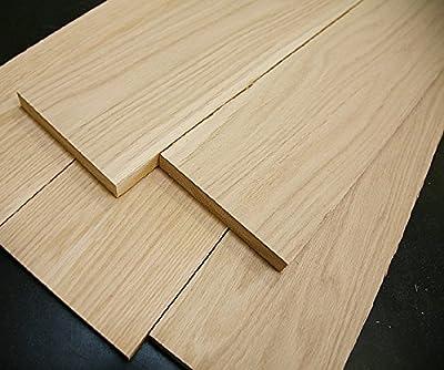 "5 White Oak Thin Boards, 1/8"" x 5-6"" x 24"" Wood Lumber"