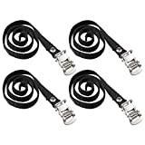 Garneck 4 Pcs Bike Rack Strap Bike Wheel Stabilizer Straps Bike Pedals Clips Strap for Exercise Bike Spin Bike and Outdoor Bicycles