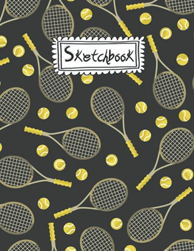 Sketch Book: tennis ball Girls Sketch Book For Art & Drawing, Writing, Painting, Sketching or Doodling, 120 Pages, 8.5x11 Gift For School Teacher & Children's - Premium tennis ball Cover .