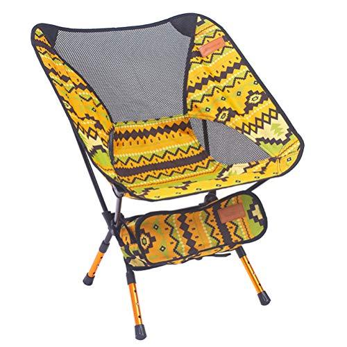 LIOOBO Tragbare Klapp Angeln Stuhl Camping Stuhl Sitz 600D Oxford Tuch Aluminium Angeln Stuhl für Picknick Im Freien...