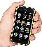 SOYES S10 Rugged Mini 3 GB + 32 GB 4G Smart Phone Compatible con tarjetas SIM duales ultra pequeñas 3 pulgadas Android 6.0 impermeable, huella digital, reconocimiento facial, amarillo,