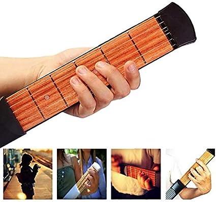 Pocket Guitar Neck 6Fret Portable Travel Mini Guitarra Acorde Entrenador