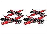 SKI-DOO Team 3DX / RED / 4 PACK Vinyl Vehicle Snowmobile Graphic Sticker Decals