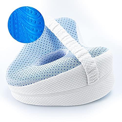 Gadgy Almohada Piernas Dormir | Almohadas ortopédicas para Las Rodillas | Cojin ergonomico para Dormir de Lado