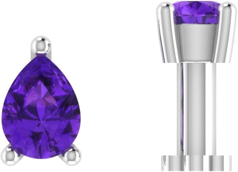 SLV 1 5 Ct Pear Shape D Save money Nose Bon Amethyst Diamond VVS1 New products, world's highest quality popular! Solitaire