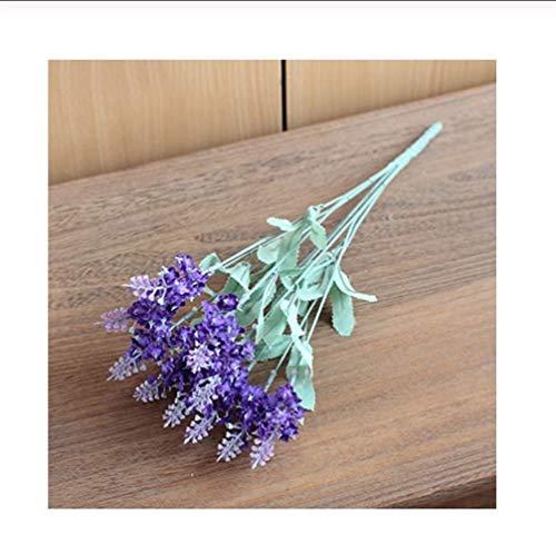 Mrjg Kunstblumen Frankreich Phantasie Romantische Provence Lavendel Künstliche Blumen Lila Weiß Neuheit Design Seidenblume for Hochzeit Dekoration Grünpflanzen (Color : Purple)