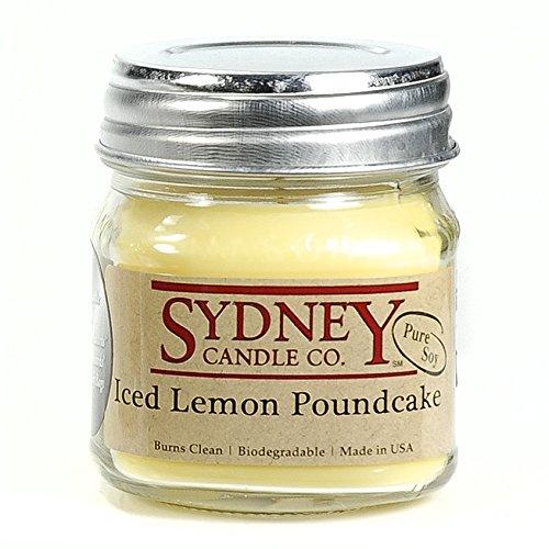 Sydney Candle Co. - Iced Lemon Poundcake - Mason Jar Candle - (7.5 oz)