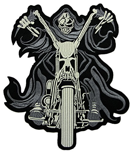 jgzcs Ghostrider Backpatch Rückenaufnäher XXL ca. 21,5 x 25,5 cm