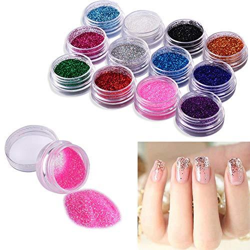 Nouvelle Arrivée 24 Couleur Miroir Effet Pigment Glitter Nail Poudre pour Gel UV Nail Art