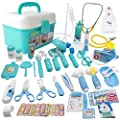 MCFANCE Toy Doctor Kits 48Pcs Pretend Play Doctor Kit Toys Stethoscope Medical Kit Imagination Play for Kids 3 Years by MCFANCE