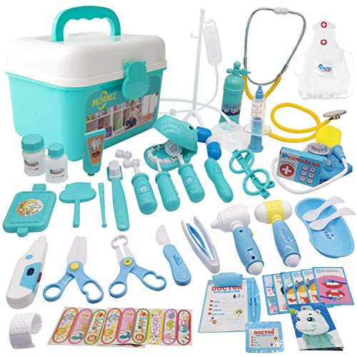 MCFANCE Toy Doctor Kits 48Pcs Pretend Play Doctor Kit Toys...