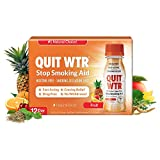 Quit WTR Stop Smoking Remedy to Help Curb Cravings Quit Smoking Nicotine-Free Drug-Free Support Withdrawal Symptoms Improve Health Overcome The Urge to Smoke 24/7 - Pack of 12 or 48 Doses (Fruit)