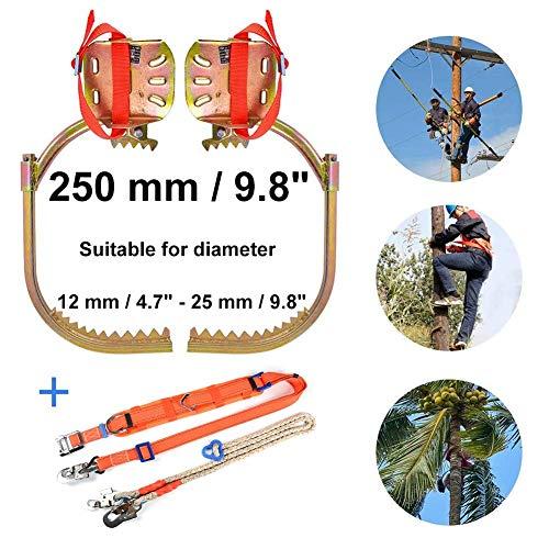 kaige Tree Climbing Spikes, Baumkletterausrüstung geeignet for Durchmesser 12 mm / 4.7