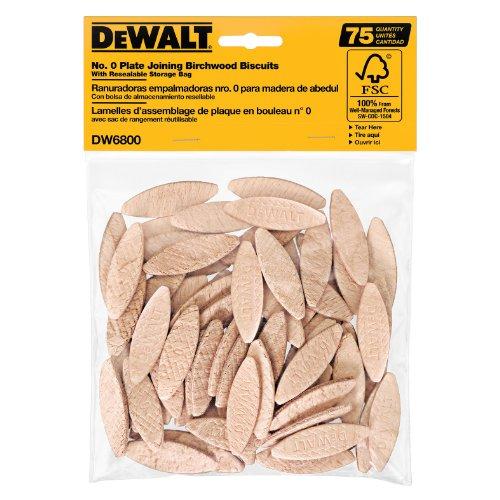 DEWALT Joiner Biscuits, No.0 Size, 75-Piece (DW6800)
