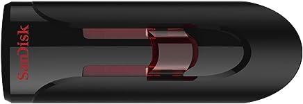 Sandisk UFM 64GB USB CRUZER GLIDE 3.0 64GB USB 3.0 (3.1 Gen 1) USB Type-A Black,Red USB Flash Drive - USB-Sticks (64 GB, 3.0 (3.1 Gen 1), USB Type A, Dia, Black, Red)
