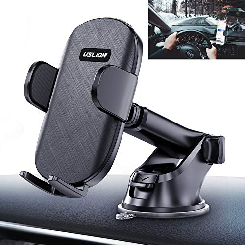 Car Phone Holder Mount, Powerful Suction Cup Cell Phone Mount for Car Dashboard Windshield Desk Compatible with iPhone 12 Pro Max XS XR X 8 8+ 7 7+ SE 6S 6+ Samsung Galaxy S10 S8 Note 10 Plus and More