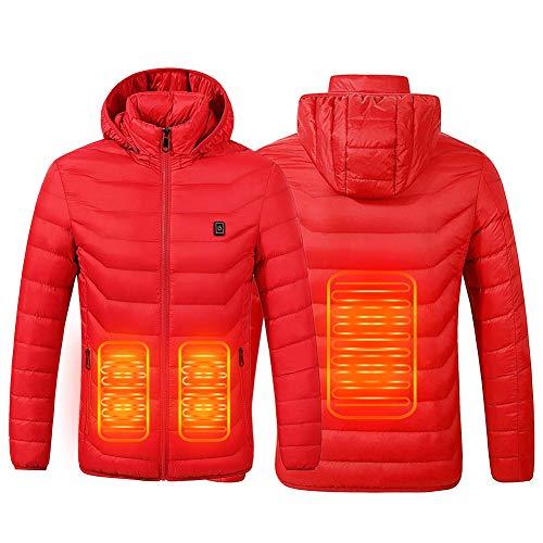 SUPTEMPO Beheizte Jacke, Wasserdicht Winddicht Softshell Winterjacke USB Lade Heizmantel für Herren Damen