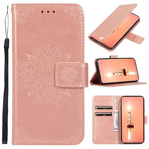 Snow Color Xiaomi Mi 9 Lite / CC9 Hülle, Premium Leder Tasche Flip Wallet Case [Standfunktion] [Kartenfächern] PU-Leder Schutzhülle Brieftasche Handyhülle für Xiaomi Mi 9 Lite - COCDD010597 Rosa Gold