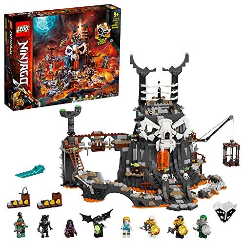 LEGO 71722 Ninjago Le Donjon du Sorcier au Crâne, Ensemble de Construction 2 en 1 et Jeu de société avec 8 Figurines
