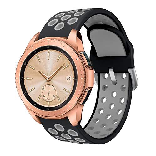 Sycreek Compatible para Samsung Galaxy Active Correa 20mm Silicona Doble Color Correa de Reloj Pulsera de Reemplazo de Liberación Rápida para Galaxy Watch 42mm/Active Watch/Active 2 40mm/Active 2 44mm