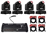 4) Chauvet Intimidator Spot 110 Compact Moving Head Lights+DMX Controller+Cables