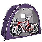 自転車収納テント 自転車テント 雑貨 片屋根式簡易ガレージ 家庭用 置き場 多機能 バイク アウトドア 戸外 携帯可,Purple