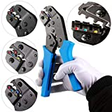 Crimping Tool Wire Crimper Plier AWG 20-10 Comfort Grip Terminal Wire Connectors Ratcheting For Electricians Contractors, Repair Supports Wiring Projects