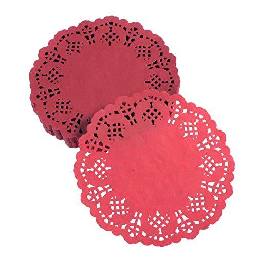 Hemoton 100pcs /Lot 14cm Vintage Food Grade Fashion Elegante Lace Decupage Paper Doilies für die Tischdekoration