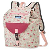 KAVU Satchel Pack Rucksack Travel, Hiking Backpack - Chillin Flamingo