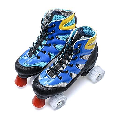 YSCYLY Kinder Quad Skate,Erwachsene Zweireihige Rollschuhe,GrößEnverstellbare, Bequeme Rollerblades