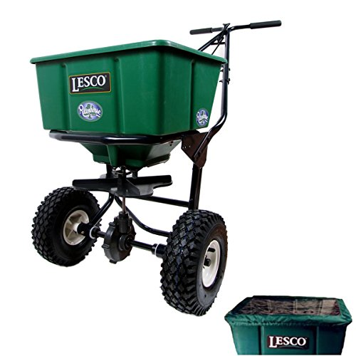 Learn More About Lesco 50 Lb. Push Spreader 092807 with Hopper Cover (Bundle, 2 Items)