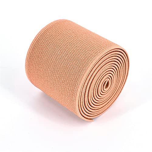 1 Roll Flat Elastic Cord 1.5-Inch Wide by 3-Yard Double-Side Twill Elastic Band(#28 Light Pink)