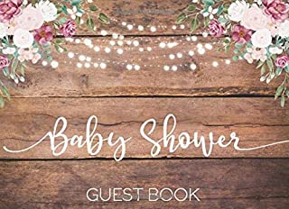 Baby Shower: Guest Book - Rustic Pink Peony Rose Floral