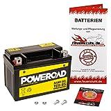 Gel-Batterie für Kawasaki ZXR 400 (ZX400L) wartungsfrei, einbaufertig, startklar, inkl. 7,50€ Pfand
