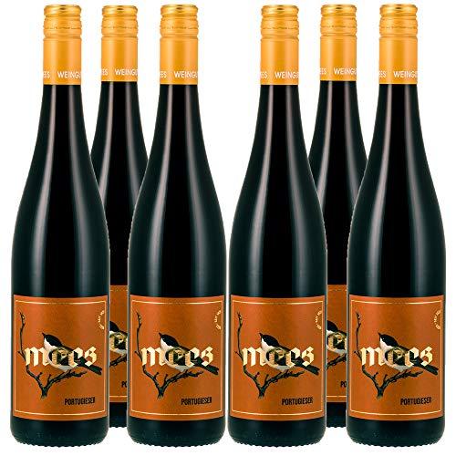 Weingut Mees PORTUGIESER ROTWEIN LIEBLICH SÜß & FRUCHTIG GUTSWEIN 2018 Wein süss Deutschland Nahe Paket (6 x 750 ml) 100% Blauer Portugieser