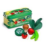 Erzi 10,7x 4,9x 4,9cm Holz Supermarkt Gemüse Snack in Einer Dose Spielset