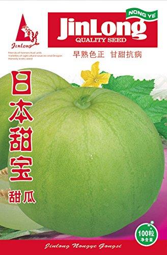 (Mix minimum 5) 1 paquet d'origine 110+ pcs graines de melon sucré japonais, graines de fruits vert cantaloup Livraison gratuite