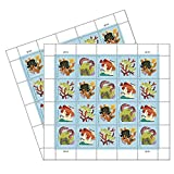 Coral Reefs Postcard 2 Sheets of 20 US First Class Forever POSTCARD Postage Stamps Sea (40 Stamps) Scott 5366
