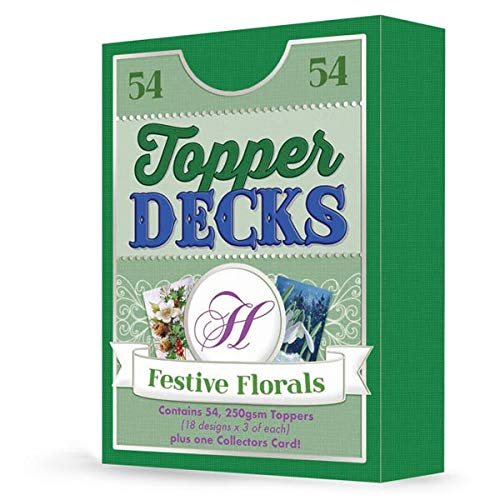 Hunkydory Topper Deck - Festive Florals - 54 Images for Card Making DECK007