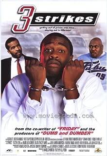 Three Strikes Movie Poster (27 x 40 Inches - 69cm x 102cm) (2000) -(Brian Hooks)(N'Bushe Wright)(Faizon Love)(Starletta DuPois)(David Alan Grier)(Dean Norris)