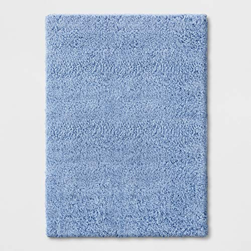 4X56u0022 Solid Tufted Washable Accent Rug Blue - Room Essentials™