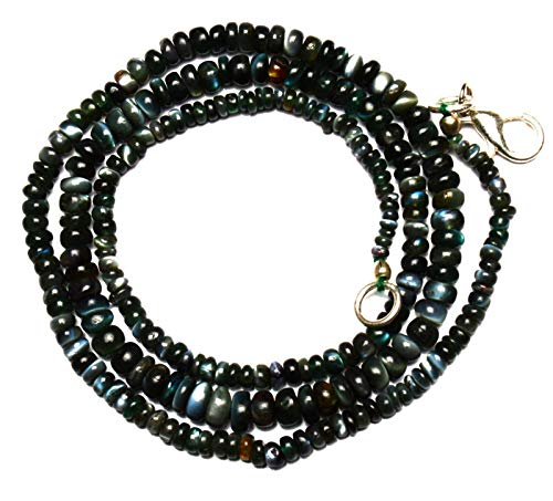 24 inch long rondelle shape smooth cut natural alexandrite chrysoberyl 3-5 mm beads necklace with 925 sterling silver clasp for women, girls unisex