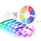 Govee LED Strip Lights, 5m Music Sync App Control Lighting Strip Kit, RGBIC Colour Changing Rope Light for Party Room Bedroom TV Kitchen Cabinet