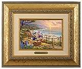 Thomas Kinkade Studios Donald and Daisy - A Duck Afternoon 5 x 7 Brushwork Gold...