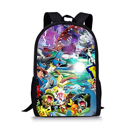 Pokemon Children's Backpack Pikachu Campus Schoolbag Pokemon Anime Backpack Daypack Bookbag Laptop School Bag Charmander Bulbasaur Printed