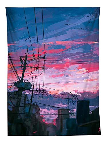 YISUMEI Tapisserie Wandbehang,Anime Stil Draht Wandteppich Wohnzimmer Schlafzimmer Wand Decor Couch Bezug Strandtuch Picknick Tuch,130x150cm