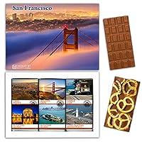 "DA CHOCOLATE キャンディ スーベニア ""サンフランシスコ"" SAN FRANCISCO チョコレートセット 7,2×5,2一箱 (MILK Blueberry Coconut Pretzel)"