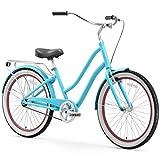 sixthreezero EVRYjourney Women's Single Speed Step-Through Hybrid Cruiser Bicycle, 26' Wheels and...